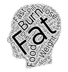 Burn fat fast text background wordcloud concept vector
