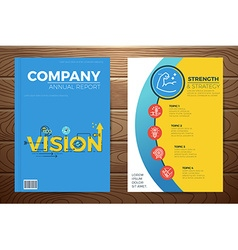 Business vision book cover vector
