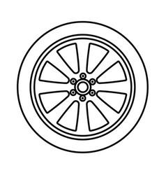car wheel black color icon vector image vector image