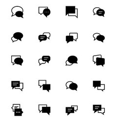 Chat massages icons 3 vector