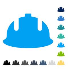 Construction helmet icon vector