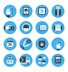 E-commerce and online shopping icons set vector