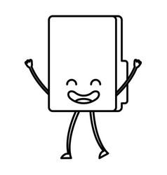 Folder document kawaii character vector