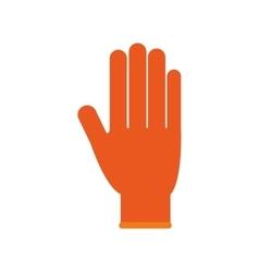 Glove industrial security icon vector