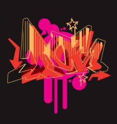 graffiti graphic vector image vector image