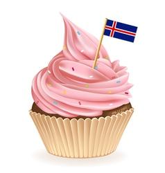 Iceland cupcake vector