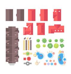 Landscape elements - set of modern objects vector