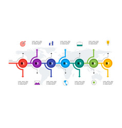 Layered horizontal infographic timeline vector