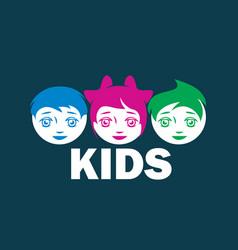 Logo kids vector
