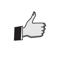 okay hand sign vector image