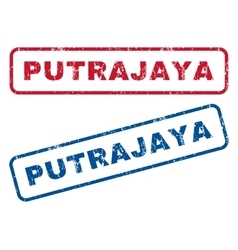 Putrajaya rubber stamps vector