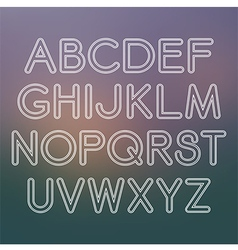 Sans serif font with rounded corners vector