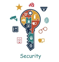 Security icon concept vector image