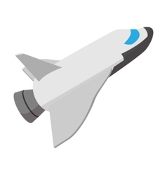 Space shuttle taking off cartoon icon vector image