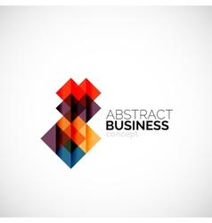 Square concept company logo design element vector image