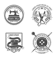 Tailor detail emblem set vector