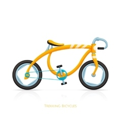 Trekking bicycles one vector