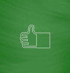 Thumbs up computer symbol vector