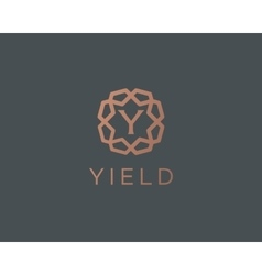 Premium letter Y logo icon design Luxury vector image