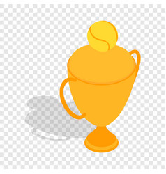 Tennis trophy cup isometric icon vector
