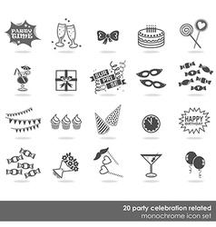 Party icon set vector