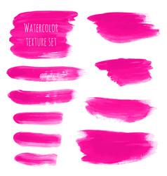 Pink rose magenta watercolor brush stroke vector
