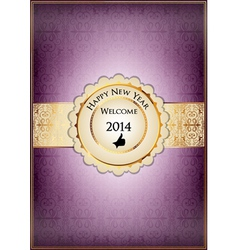 Purple abstract new year card vector image