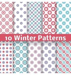 Light winter romantic patterns tiling vector image