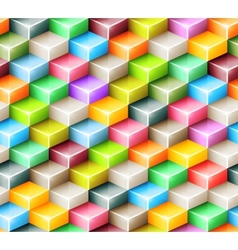 Geometric seamless pattern with bright colored vector