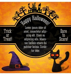 Happy halloween banner with greetings sample text vector