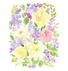 Vintage floral background printing Watercolor vector image