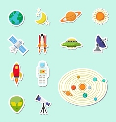 Astronomy sticker icon vector