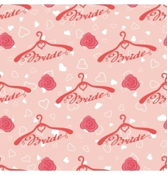 Wedding seamless pattern with hangers for bride vector