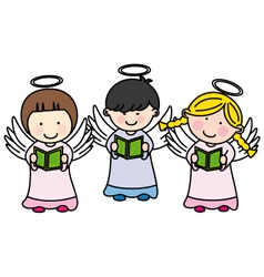 children making communion vector image