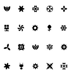 Flowers icons 7 vector