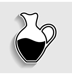 Amphora sign sticker style icon vector