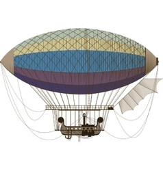 Fantastic retro dirigible vector