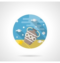 Under the sea color detailed icon vector
