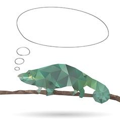 Abstract Iguana vector image