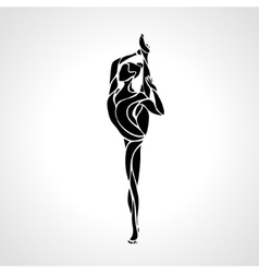 Ballet girl art gymnastics dancing woman vector