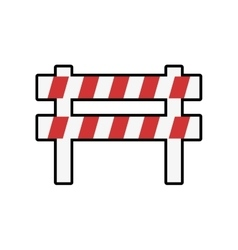 Barrier industrial security icon vector