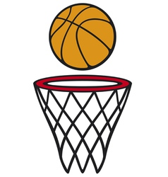 Basketball hoop and ball vector image vector image