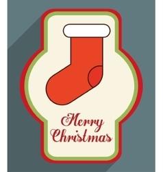 Boot of christmas season design vector