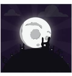 bunny moon vector image
