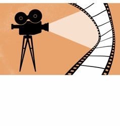 Cinema camera and movie vector