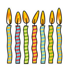 Color canddles party icon vector