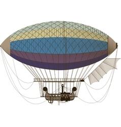 Fantastic retro dirigible vector