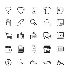 Fashion line icons 7 vector
