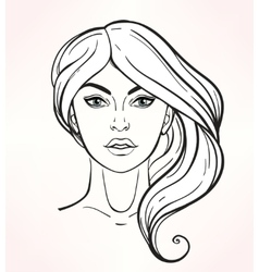 Female face chart makeup artist blank vector