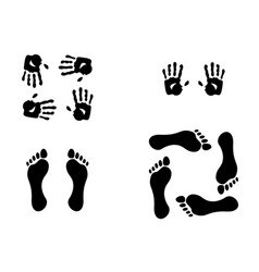 Hand and feet gestures vector image